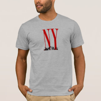 New York NY Skyline Logo Design T-Shirt