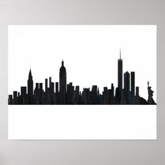 New york city skyline posters zazzle new york ny skyline oils poster voltagebd Image collections