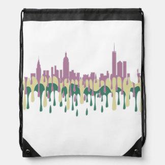 NEW YORK, NY SKYLINE PCG - DRAWSTRING BACKPACK