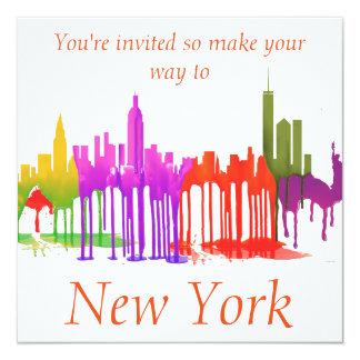 NEW YORK, NY SKYLINE PUDDLES - CARD