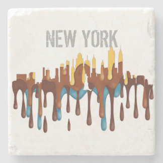 NEW YORK, NY SKYLINE YBB - STONE BEVERAGE COASTER