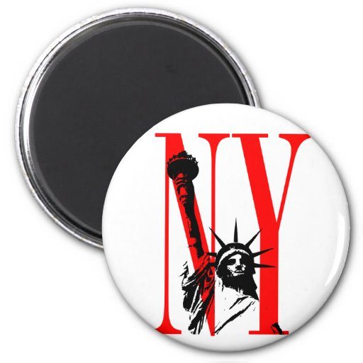 New York NY Statue of Liberty Logo Design Refrigerator Magnets
