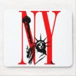 New York NY Statue of Liberty Logo Design Mousepad