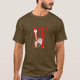 New York NY Statue of Liberty Logo Design T-Shirt
