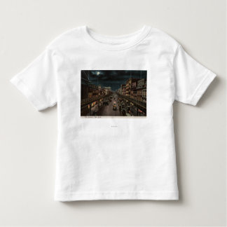 New York, NY - The Bowery - Night Scene Toddler T-shirt