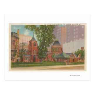New York, NY - The Little Church Postcard