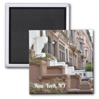 New York, NY Upper West Side Brownstones Photo Magnet