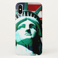 New York (NY) USA - The Statue of Liberty iPhone X Case