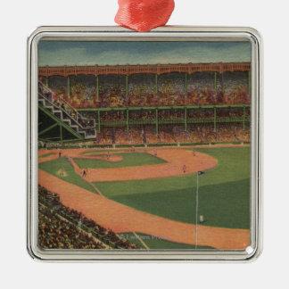 New York, NY - Yankee Stadium Metal Ornament