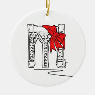 New York NYC Brooklyn Bridge Christmas Ornament