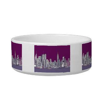 New York NYC purple Bowl