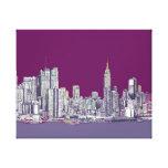 New York NYC purple Canvas Print