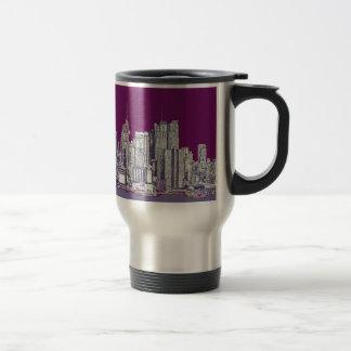 New York NYC purple Travel Mug