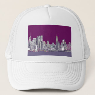New York NYC purple Trucker Hat