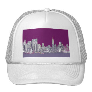 New York NYC purple Trucker Hat