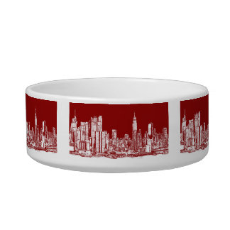 New York NYC red Bowl
