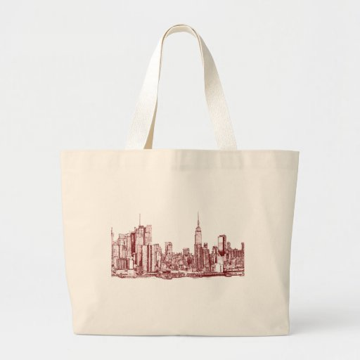 New York NYC red Canvas Bags