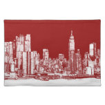 New York NYC red Cloth Placemat