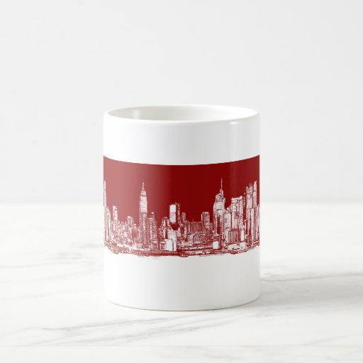New York NYC red Coffee Mug