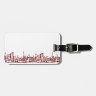 New York NYC red Luggage Tag