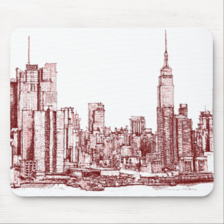 New York NYC red Mouse Pad