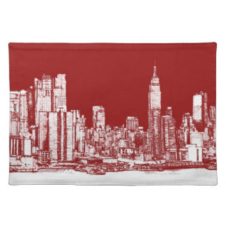 New York NYC red Placemats