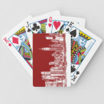 New York NYC red Poker Cards