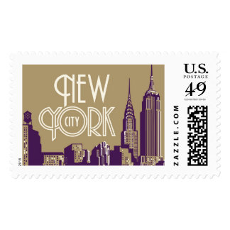 New York NYC Travel 1950 | Atelier Isabey Stamps