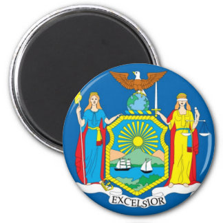 New York Official State Flag Magnet