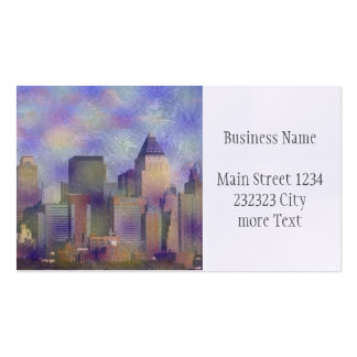 new york painted business card
