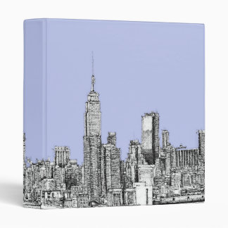 New York pale blue Binder