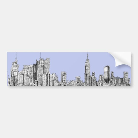 New York pale blue Bumper Sticker