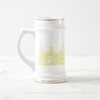 New York pale yellow Beer Stein