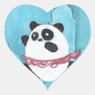 New York Panda TuTu Heart Sticker