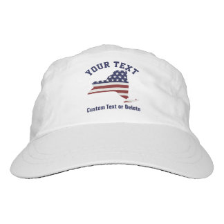 New York | Patriotic USA Flag | Your Text or City Headsweats Hat