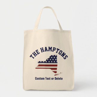 New York | Patriotic USA Flag | Your Text or City Tote Bag