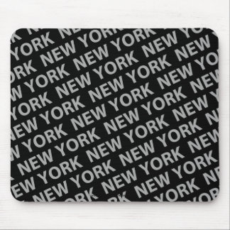 New York Pattern Gray Mouse Pad