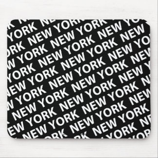 New York Pattern White Mouse Pad