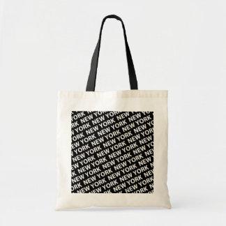 New York Pattern White Tote Bag