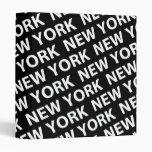 New York Pattern White Vinyl Binders