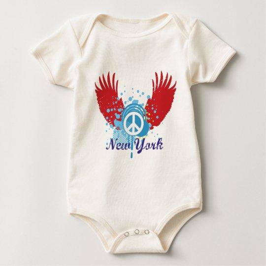 New York Peace Sign Baby Bodysuit