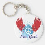 New York Peace Sign Keychain