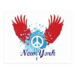 New York Peace Sign Postcards