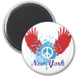 New York Peace Sign Refrigerator Magnets