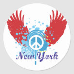 New York Peace Sign Stickers