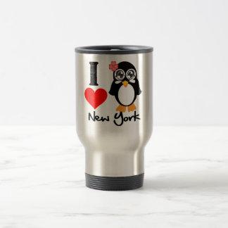 New York Penguin - I Love New York Travel Mug