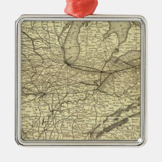 New York, Pennsylvania and Ohio Railroad Metal Ornament