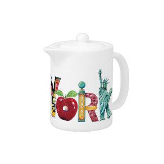 New York - personal size tea pot