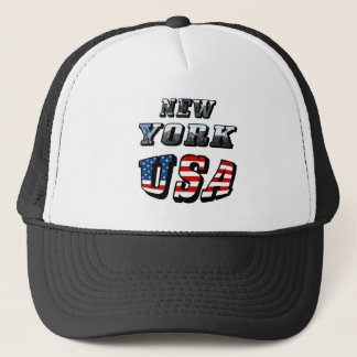 New York Picture and USA Text Trucker Hat