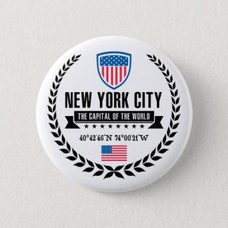New York Pinback Button